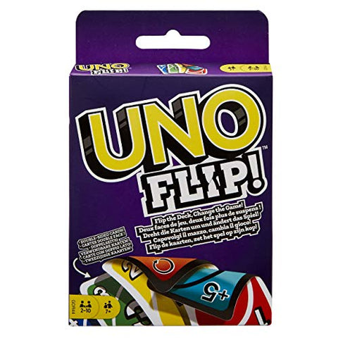 Uno flip card game.