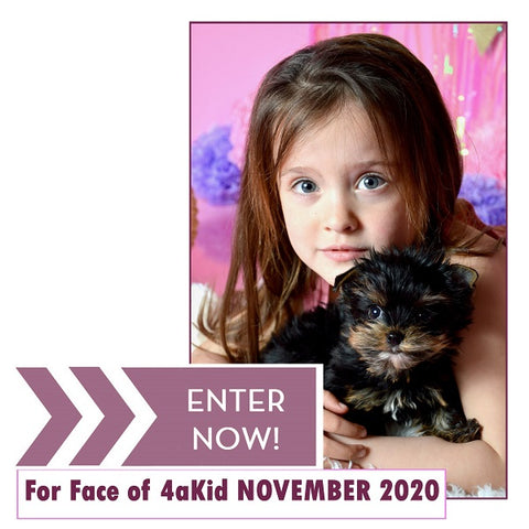 Entries now open for Face of 4aKid November 2020