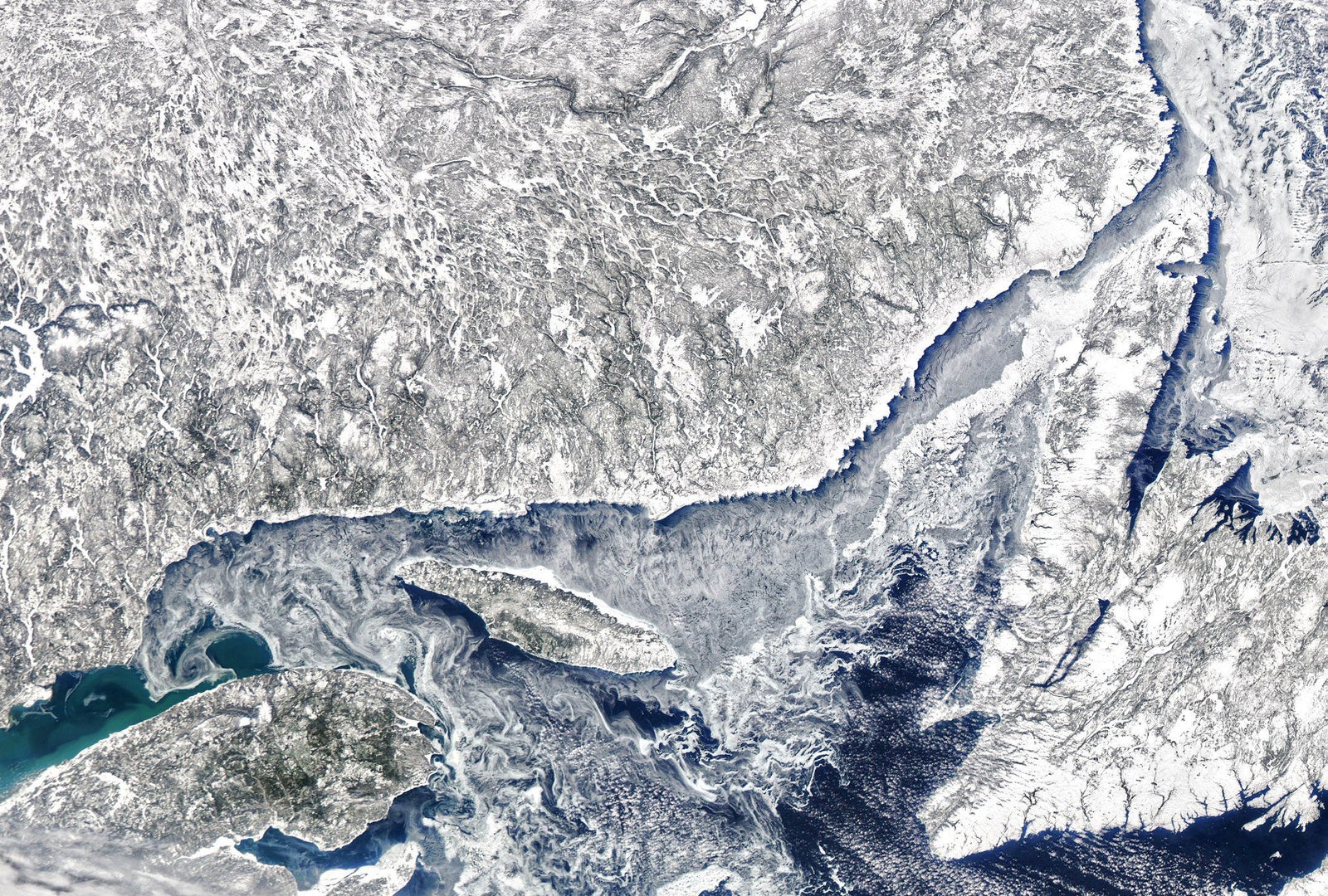 Photo de la Nasa en Janvier de la Gaspésie