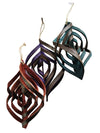 Handcrafted Twisted Leather Ornament 4 colors