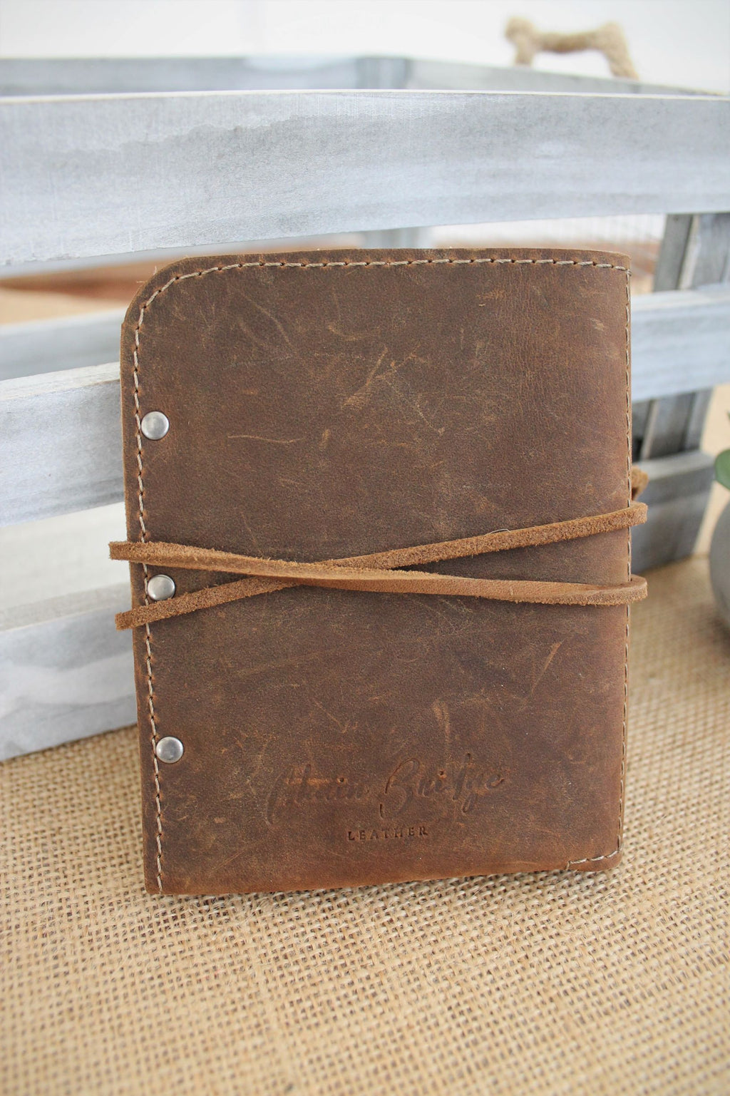 Leather store: Monogram Personalized Leather Passport Holder