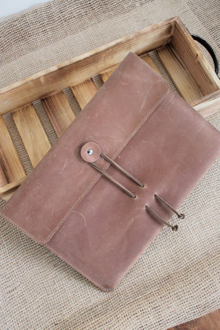Monogram Personalized Leather iPad Sleeve All sizes 6 colors