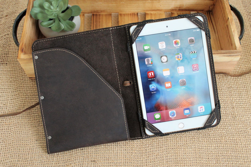 Personalized Gift for Him: Monogrammed Leather iPad Case