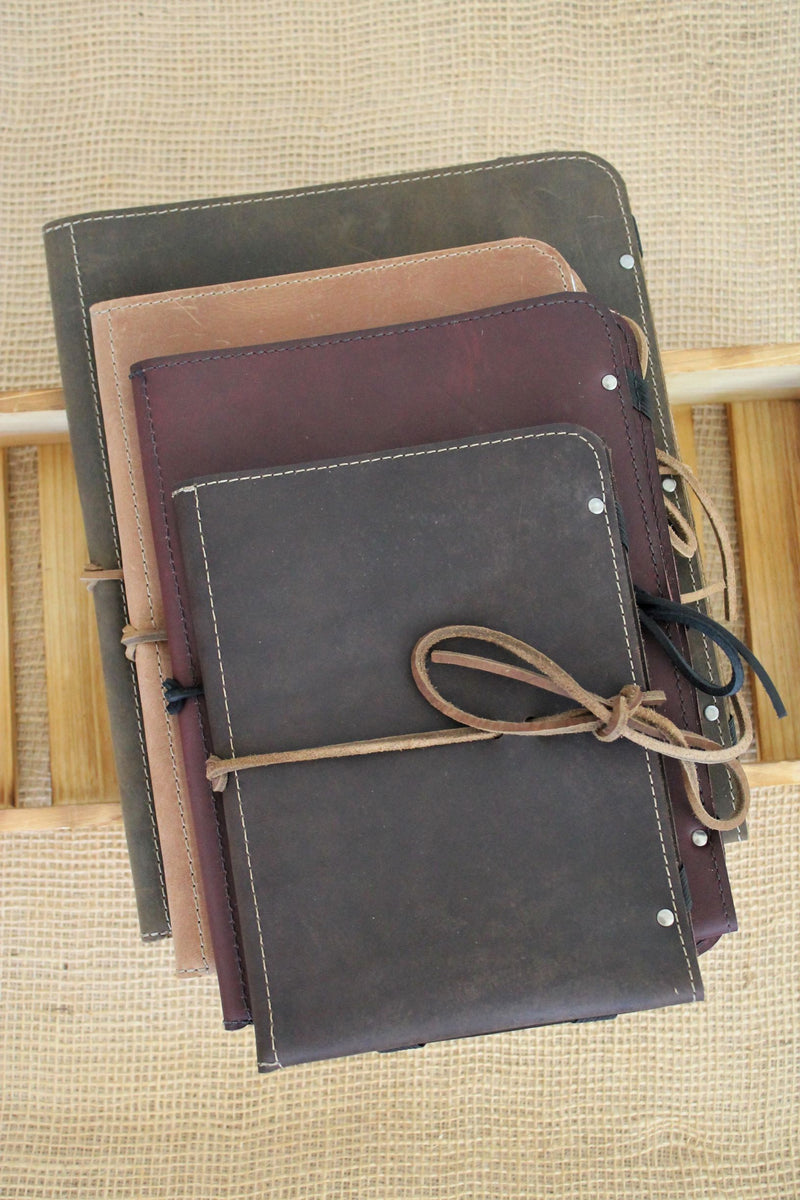 Monogrammed leather iPad cases handmade in our leather store in Beaverton, Oregon