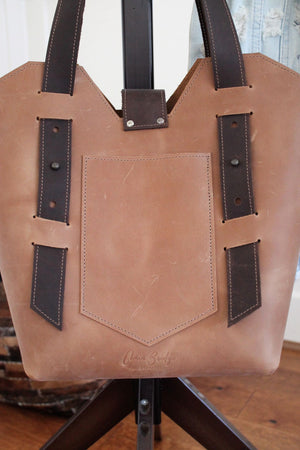 Leather Tote Bags: Handcrafted Sable Leather Shoulder Bag