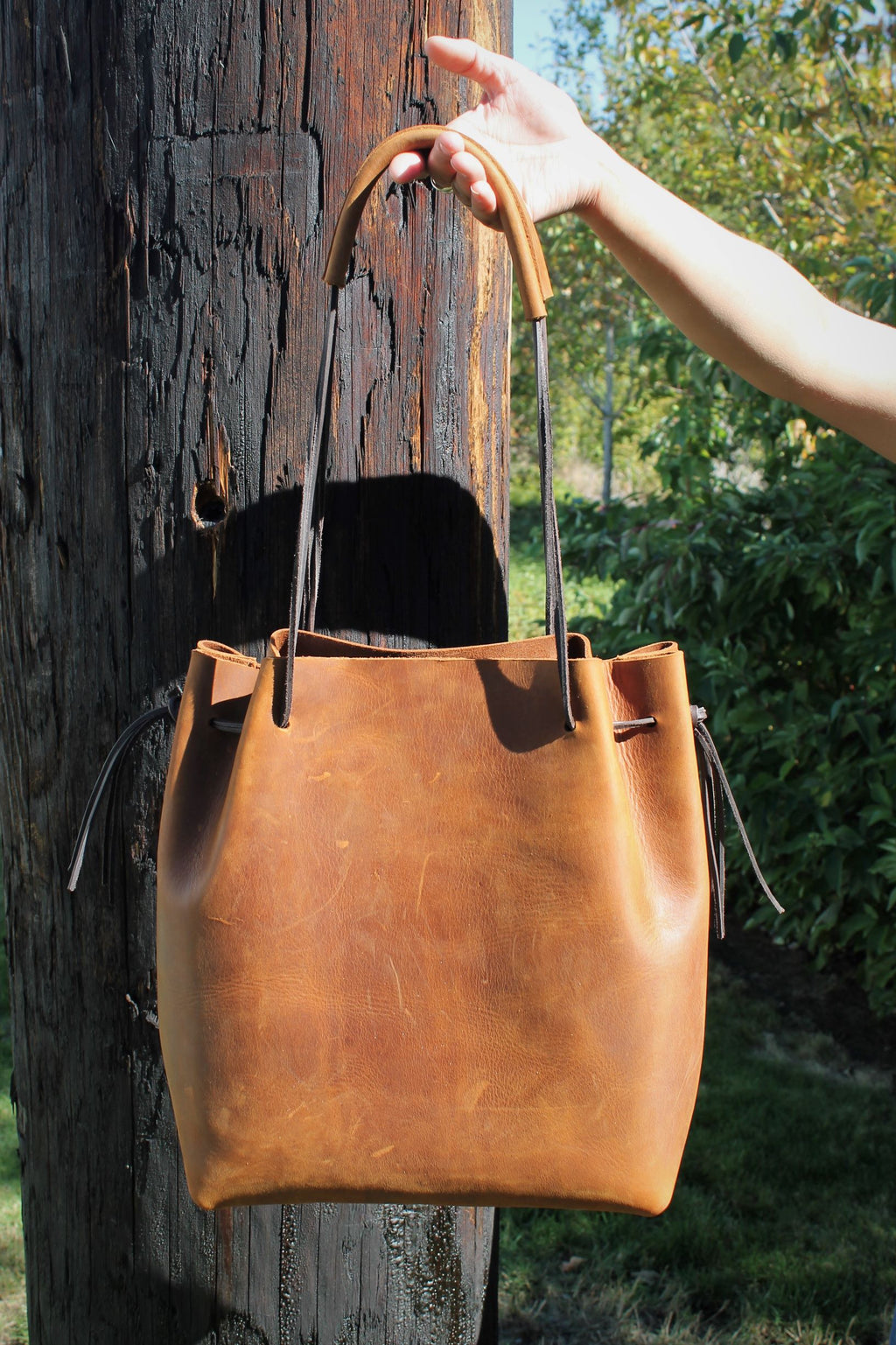 Saddle Brown Leather Tote Bag - available in Sable, Saddle Brown, Distressed Brown, Chocolate Brown or Burgundy