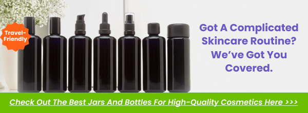 UV Glass Cosmetic Bottles