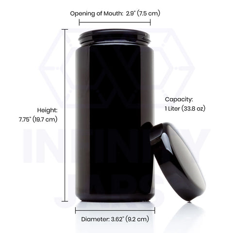 1 Liter Classic Screw Top Wide Mouth Jar - InfinityJars