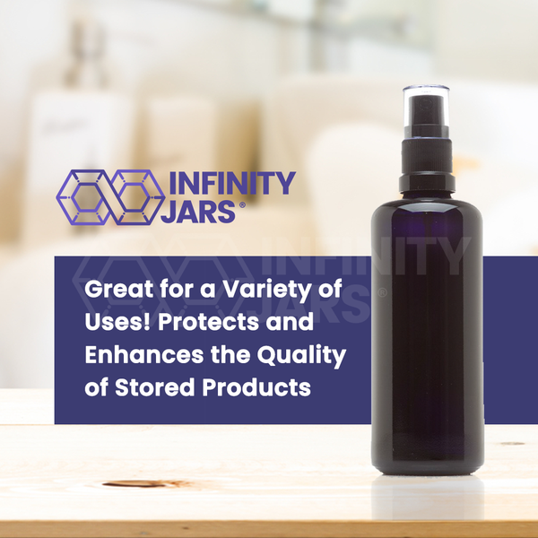 100 ml Glass Fine Mist Spray Bottle - InfinityJars