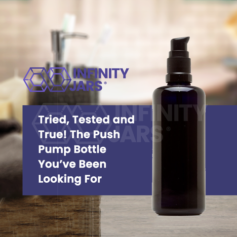 100 ml Glass Push Pump Bottle - InfinityJars