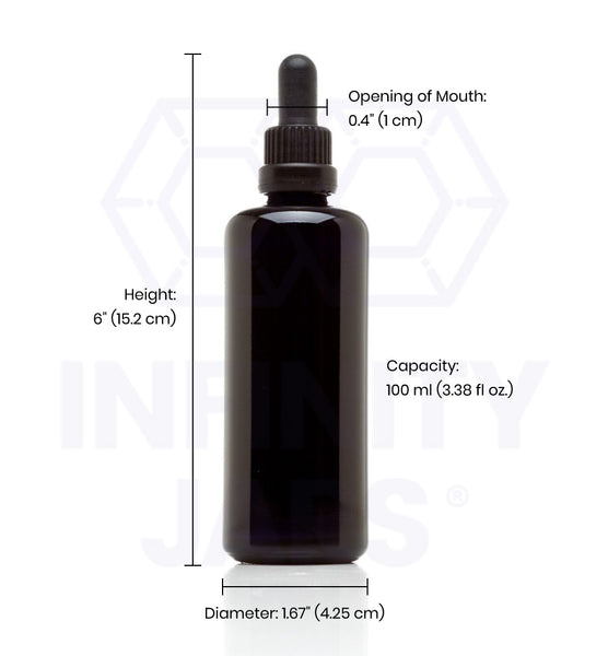 100 ml Glass Pipette Dropper Bottle - InfinityJars