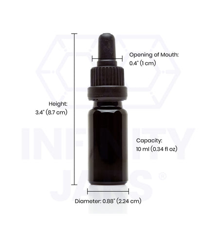 10 ml Glass Pipette Dropper Bottle - InfinityJars
