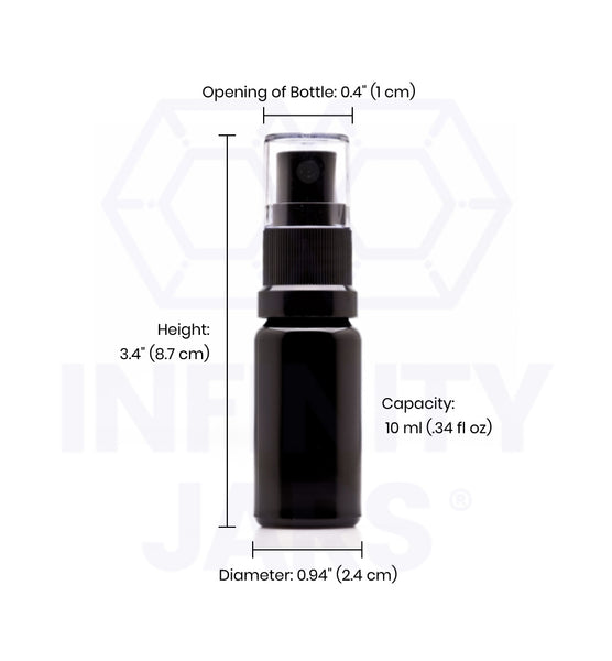 10 ml Glass Fine Mist Spray Bottle - InfinityJars