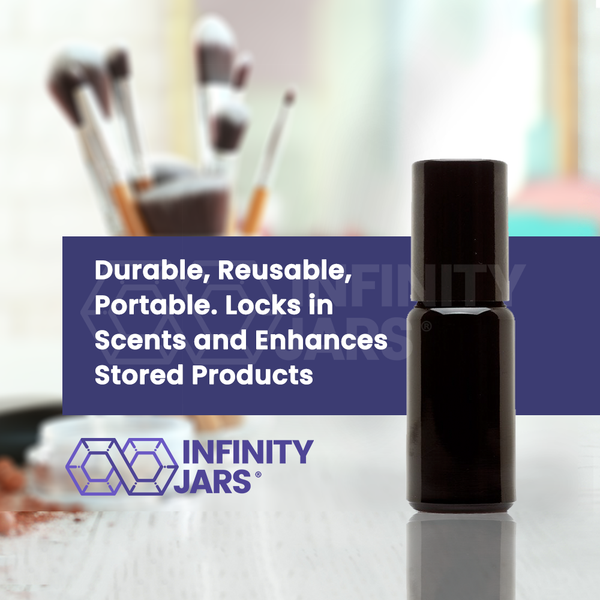 10 ml Stainless Steel Roller Applicator Bottle - InfinityJars
