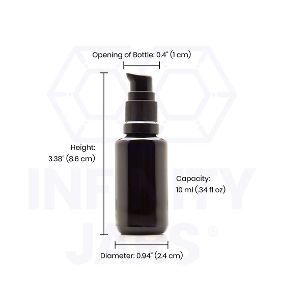 10 ml Glass Push Pump Bottle - InfinityJars