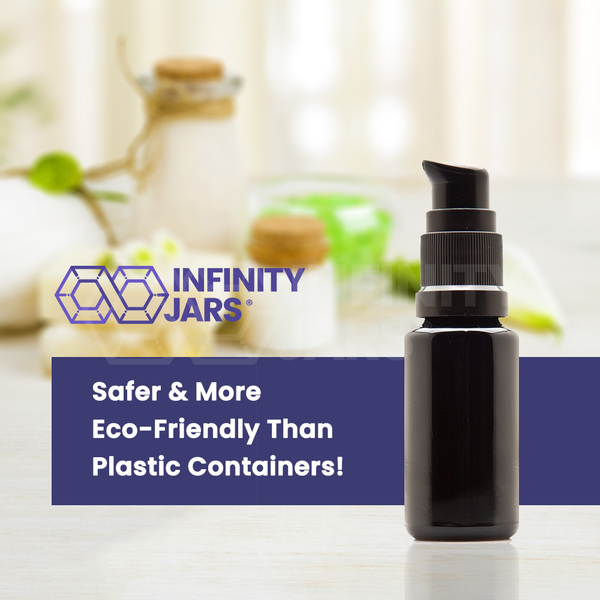 15 ml Glass Push Pump Bottle - InfinityJars