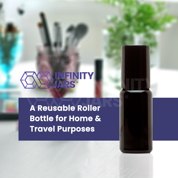 15 ml Stainless Steel Roller Applicator Bottle - InfinityJars