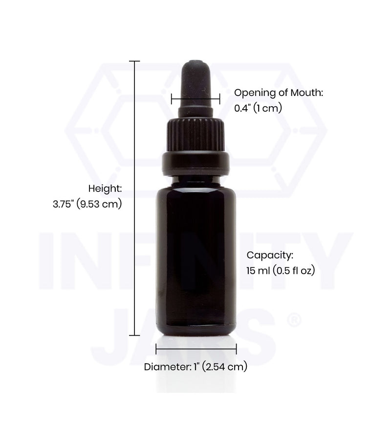15 ml Glass Pipette Dropper Bottle - InfinityJars