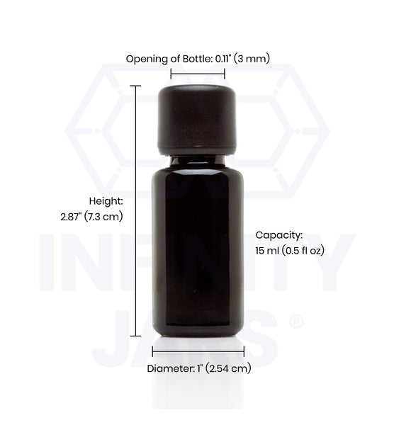 15 ml Easy Pour Screw Top Bottle - InfinityJars