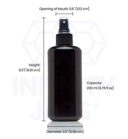 200 ml Glass Fine Mist Spray Bottle - InfinityJars