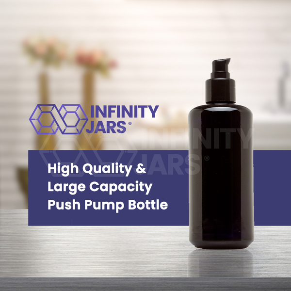 200 ml Glass Push Pump Bottle - InfinityJars