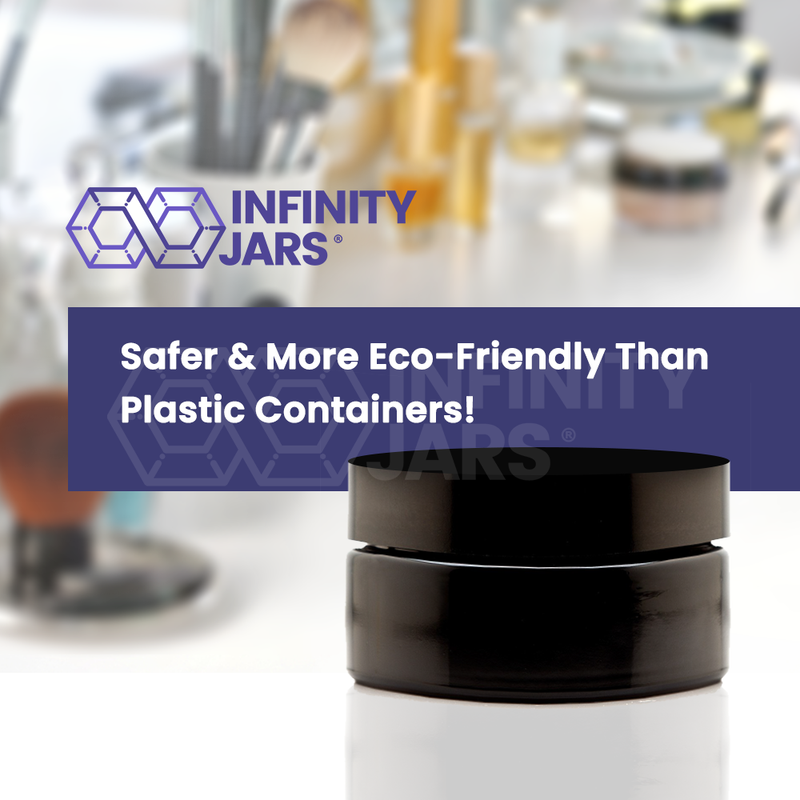 200 ml Glass Cosmetic Style Wide Mouth Jar - InfinityJars