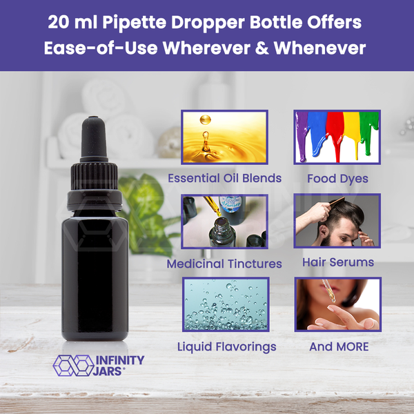 20 ml Pipette Dropper Bottle - InfinityJars