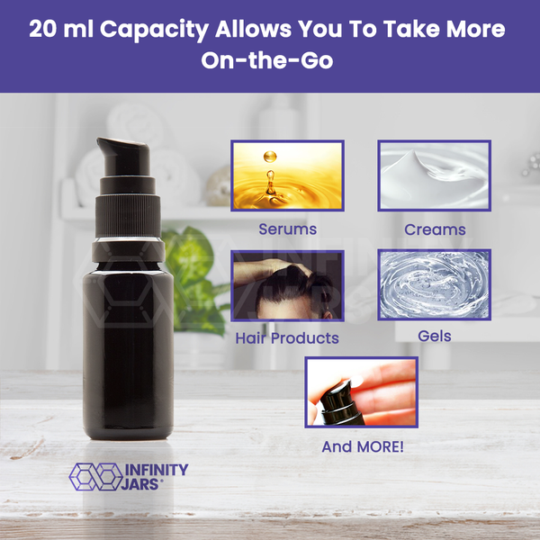20 ml Push Pump Bottle - InfinityJars
