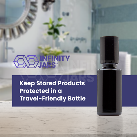 20 ml Stainless Steel Roller Applicator Bottle - InfinityJars