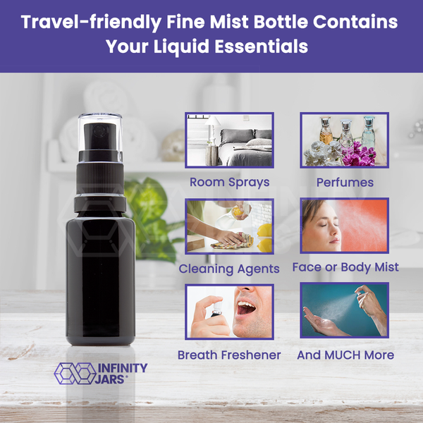 20 ml Fine Mist Spray Bottle - InfinityJars