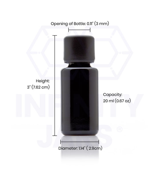 20 ml Glass Essential Oil Bottle with Euro Dropper Cap - InfinityJars