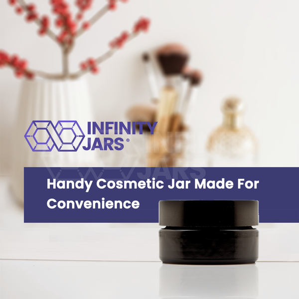 30 ml Glass Cosmetic Style Wide Mouth Jar - InfinityJars