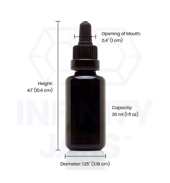 30 ml Glass Pipette Dropper Bottle - InfinityJars
