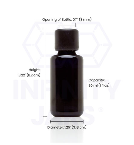 30 ml Glass Essential Oil Bottle with Euro Dropper Cap - InfinityJars