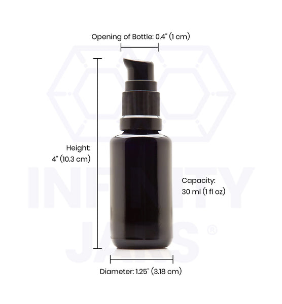 30 ml Glass Push Pump Bottle - InfinityJars