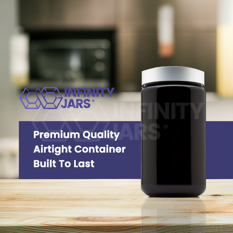 Silver Collection 400 ml Screw Top Jar with Aluminum Lid - InfinityJars