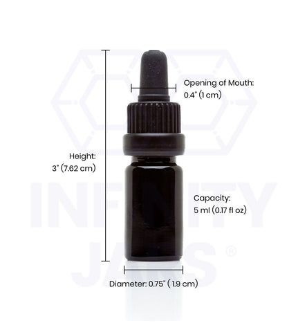 5 ml Glass Pipette Dropper Bottle - InfinityJars