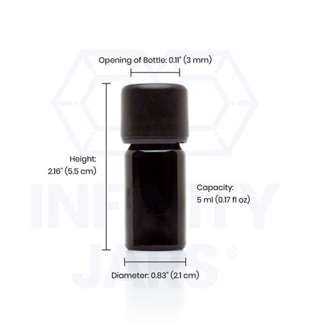 5 ml Easy Pour Screw top Bottle - InfinityJars