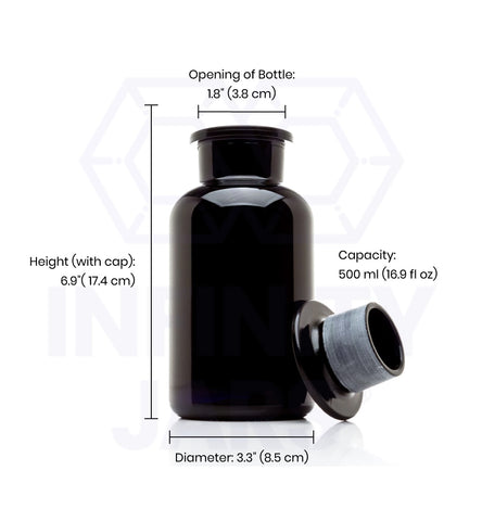 500 ml Glass-on-Glass Apothecary Jar - InfinityJars