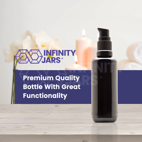 50 ml Glass Push Pump Bottle - InfinityJars