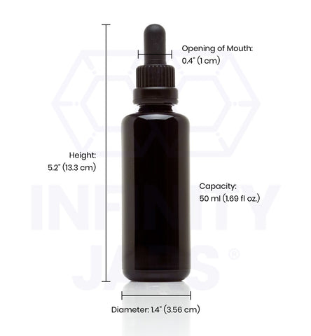 50 ml Glass Pipette Dropper Bottle - InfinityJars