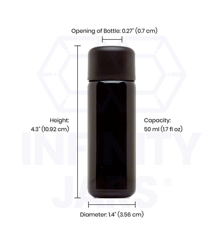 50 ml Glass Slow Pour Bottle - InfinityJars