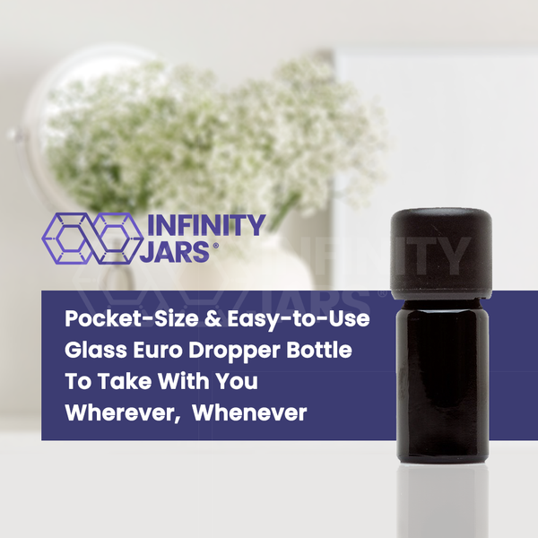 5 ml Glass Essential Oil Bottle with Euro Dropper Cap - InfinityJars