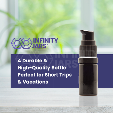 5 ml Glass Push Pump Bottle - InfinityJars