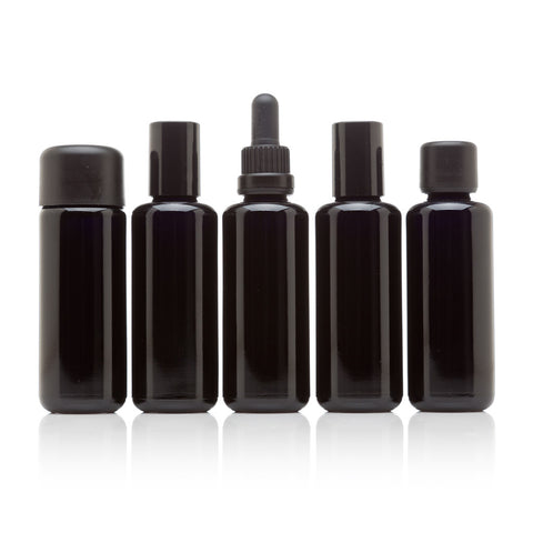 50 ml Five Glass Bottle Cosmetic Collection - InfinityJars