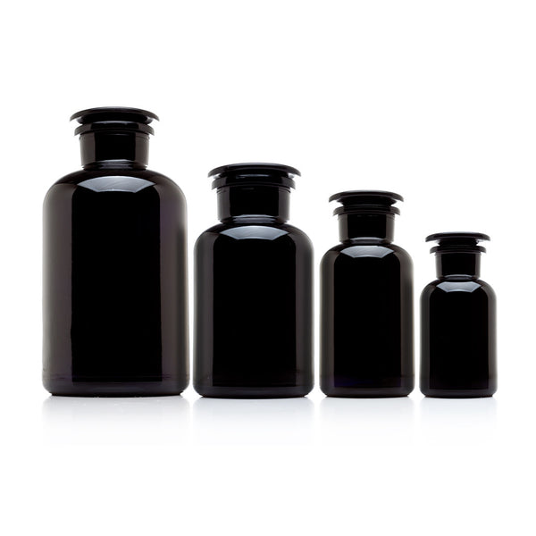 the complete apothecary collection 4 all glass jars. Black Bedroom Furniture Sets. Home Design Ideas