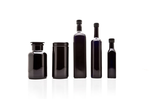 Kitchen Glass Jars Set: 250 ml, 1 L Oil Bottles, 500 ml Long Neck Bottle, 1 L Screw Top, 1 L Apothecary