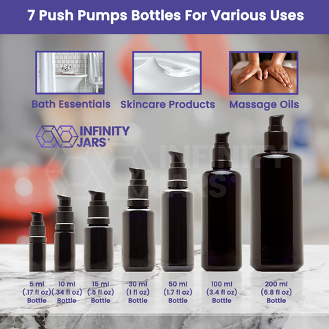 Push Pump Glass Bottle Variety Pack - InfinityJars
