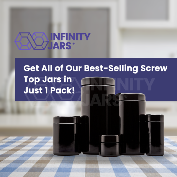 Large Screw Top 5 Jar Gift Pack 50 ml-1 L - InfinityJars