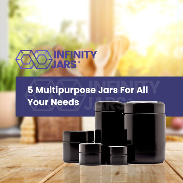 5 Jar Screw Top Gift Pack (5 ml-250 ml Sizes) - InfinityJars